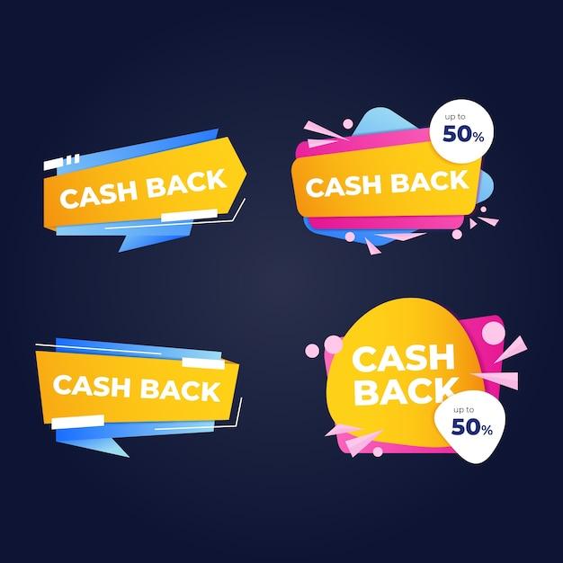Jeu D'étiquettes De Cashback Vecteur gratuit