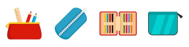 Jeu D'icônes De Crayons Vecteur Premium