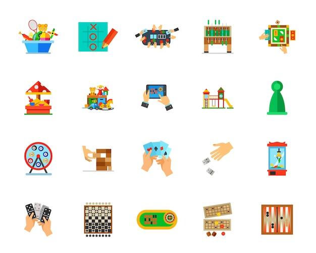 Jeu D'icônes De Jeux D'intérieur Vecteur gratuit