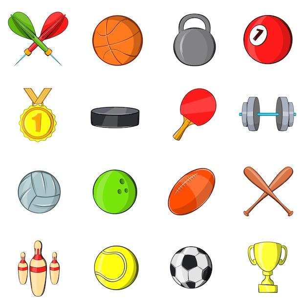 Jeu d'icônes de sport Vecteur Premium