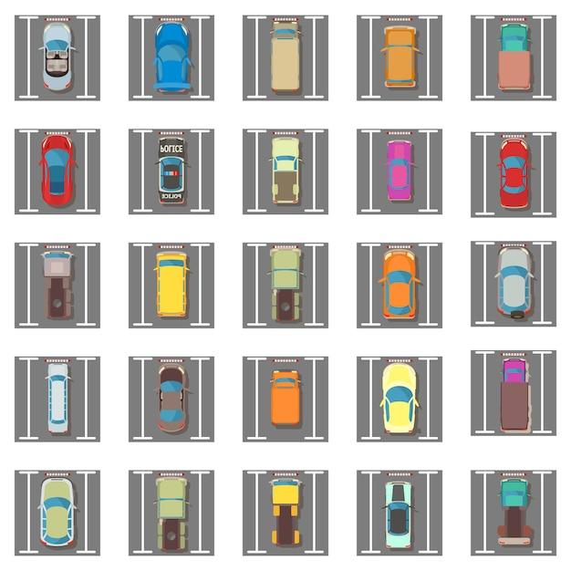 Jeu d'icônes de stationnement Vecteur Premium