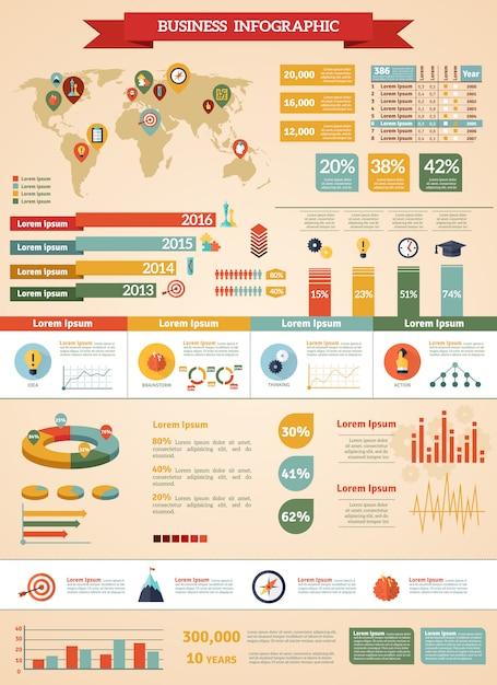 Jeu d'infographie de stratégie d'entreprise Vecteur gratuit