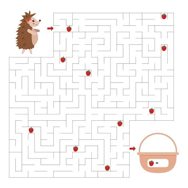 Jeu de labyrinthe pour les enfants Vecteur Premium