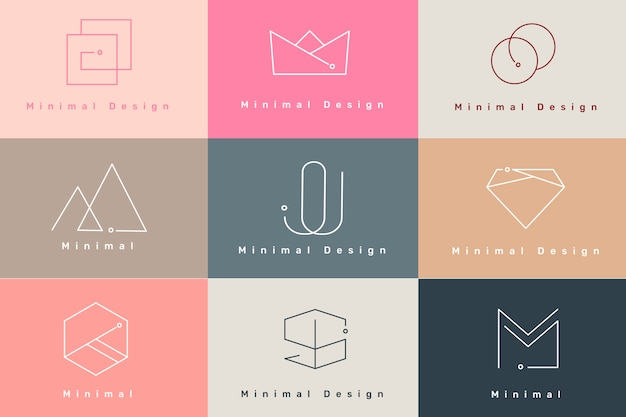 Jeu De Logo Minimal Vecteur gratuit
