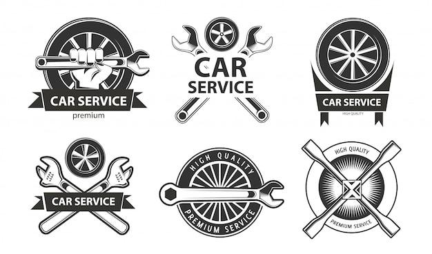 Jeu De Logos De Service De Voiture Vecteur Premium