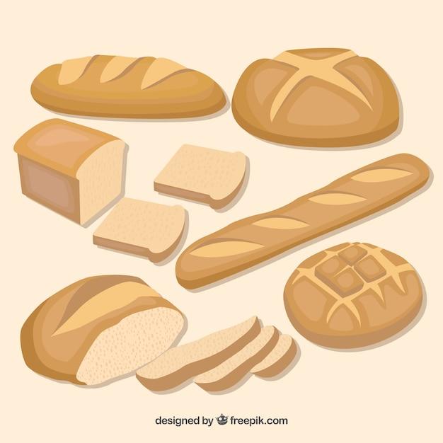 Jeu de pain Vecteur Premium