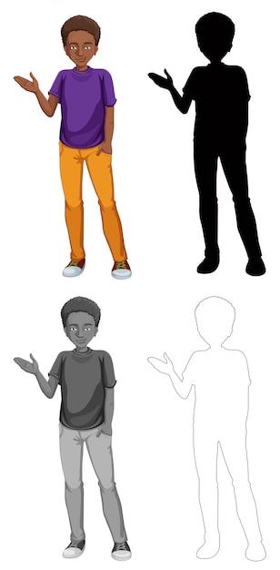 Jeu de personnage africain Vecteur gratuit