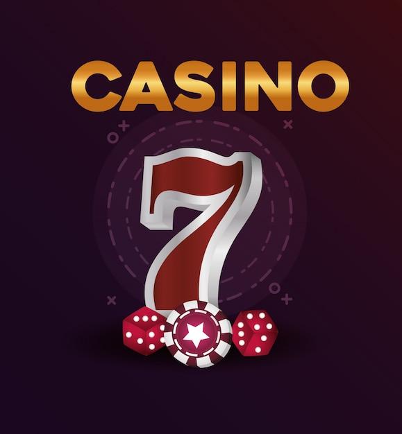 Jeu de poker jackpot poker dés Vecteur Premium
