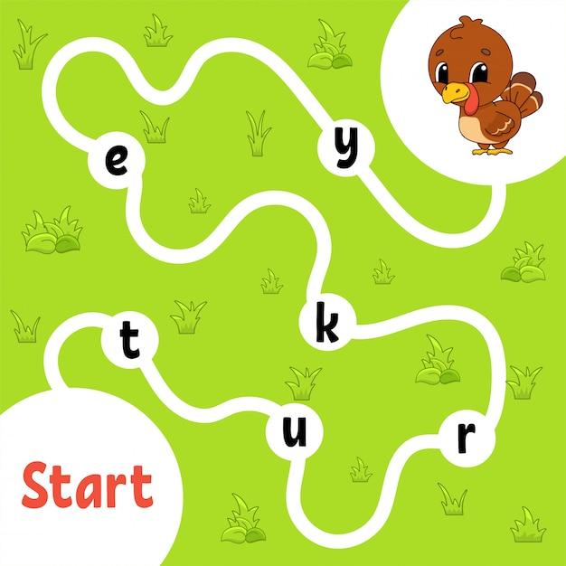 Jeu de puzzle logique. apprendre des mots pour les enfants. Vecteur Premium