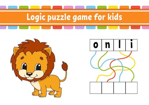 Jeu de puzzle logique. Vecteur Premium