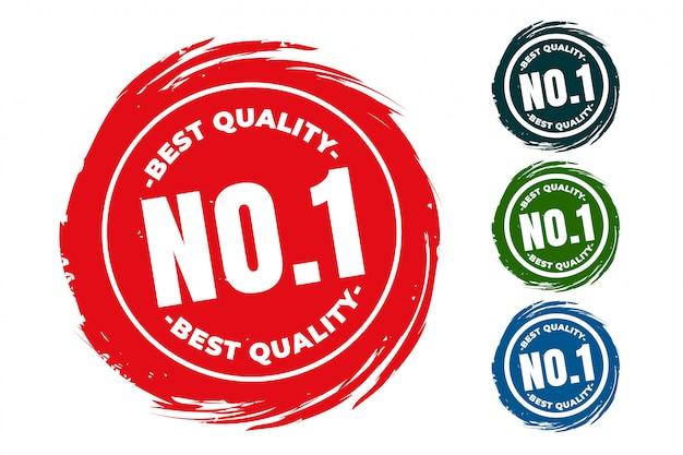 Jeu De Tampons En Caoutchouc Numéro Un De La Meilleure Qualité Vecteur gratuit