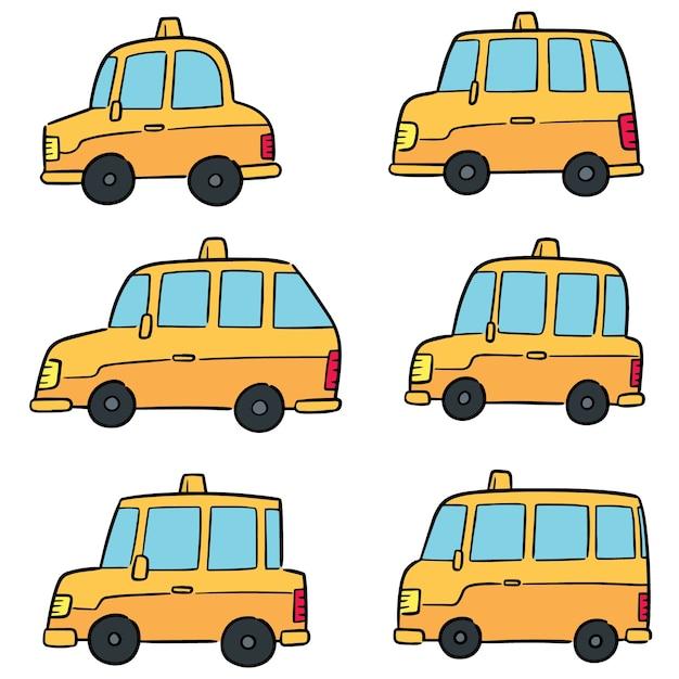 Jeu de taxi vector Vecteur Premium