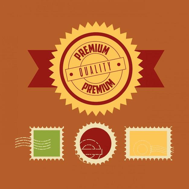 Jeu de timbres de qualité premium Vecteur gratuit