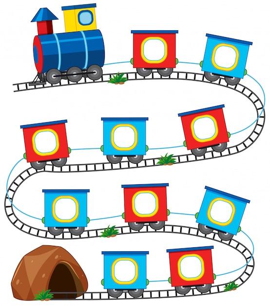 Un jeu de train Vecteur gratuit