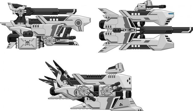 Jeu de vaisseaux spatiaux sprites Vecteur Premium