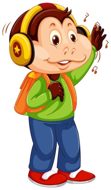 Un jeune personnage de singe Vecteur gratuit
