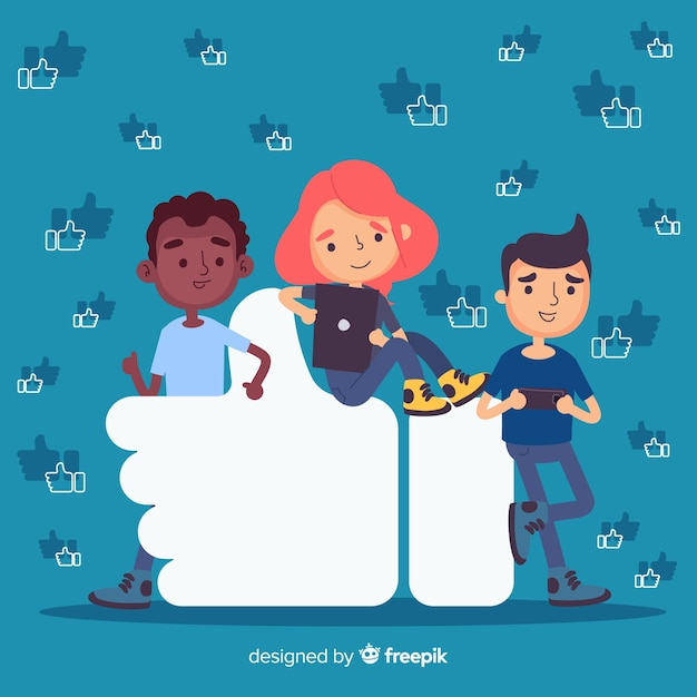 Les jeunes aiment fond de symbole Vecteur gratuit