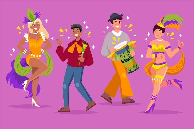 Jeunes, Danse, Carnaval Vecteur gratuit
