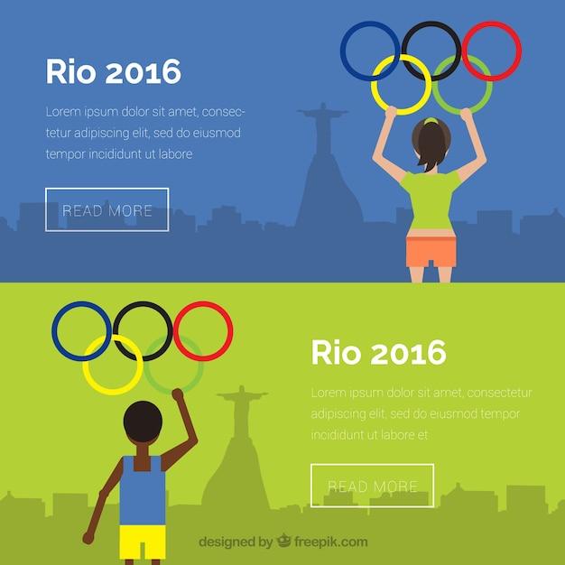 Jeux olympiques bannières Vecteur gratuit