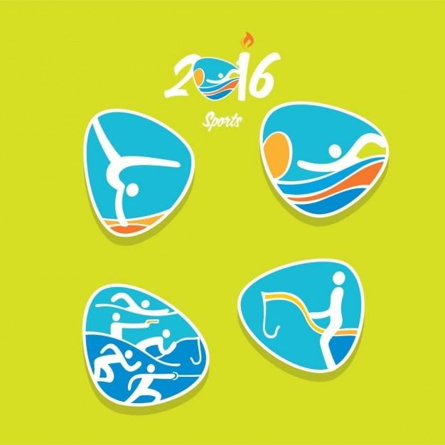 Jeux olympiques rio icon Vecteur gratuit