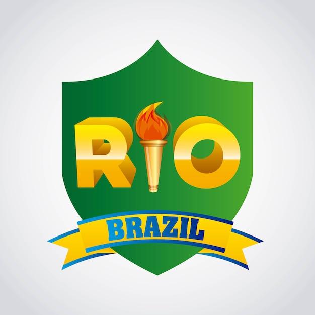 Jeux rio design Vecteur Premium