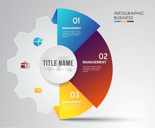 Jigsaw concept travail d'équipe infographique. Vecteur Premium