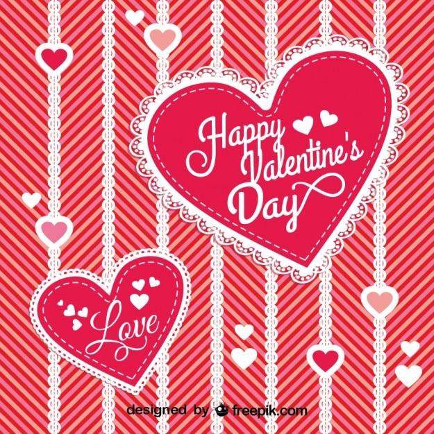 Joli coeur avec la conception de dentelle pour saint - Image st valentin a telecharger gratuitement ...
