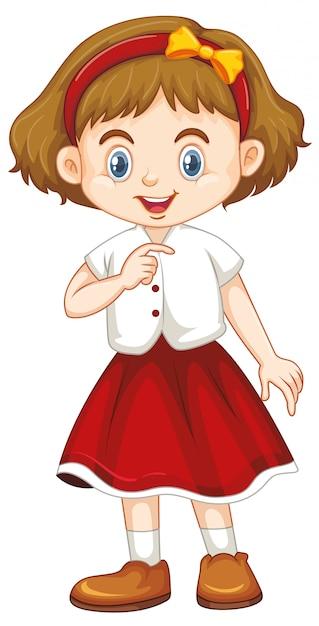 Joli enfant souriant heureux isolé sur blanc Vecteur gratuit
