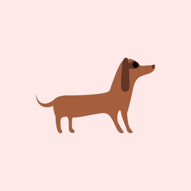 Jolie illustration d'un chien Vecteur gratuit
