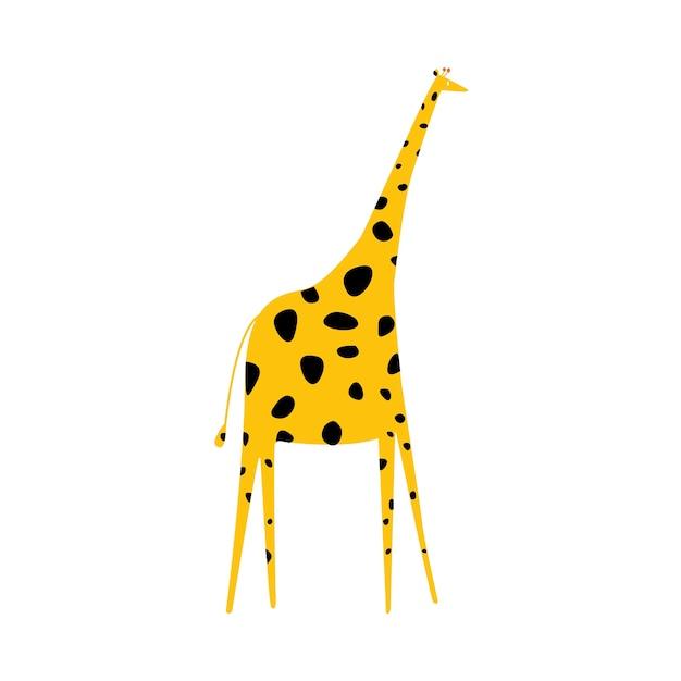 Jolie illustration d'une girafe Vecteur gratuit