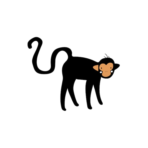Jolie illustration d'un singe Vecteur gratuit