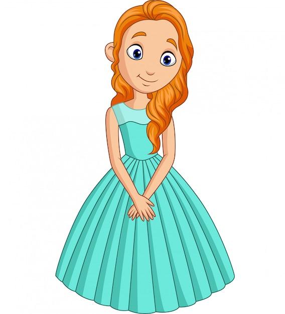 Jolie petite princesse isolée Vecteur Premium