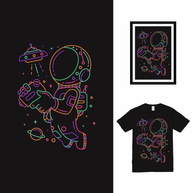 Jouer à La Conception De T-shirt Ufo Vecteur Premium