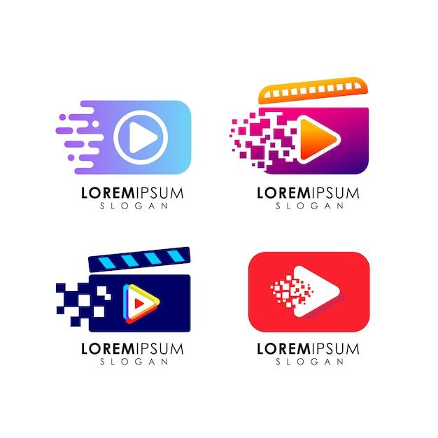 Jouer Le Modèle De Conception De Logo. Jouer à La Conception De Symboles D'icône Vecteur Premium