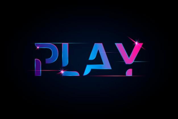 Jouer une typographie de dégradé vibrante Vecteur gratuit