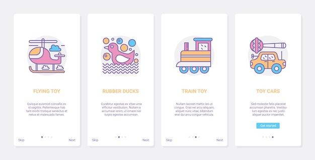 Jouets Pour Enfants Pour Jouer à L'illustration. Vecteur Premium