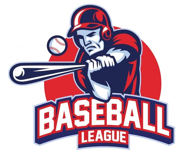 Joueur De Baseball En Action Vecteur Premium