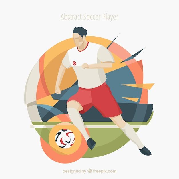 Joueur de football dans un style abstrait Vecteur gratuit