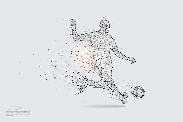 Joueur De Football Vecteur Premium
