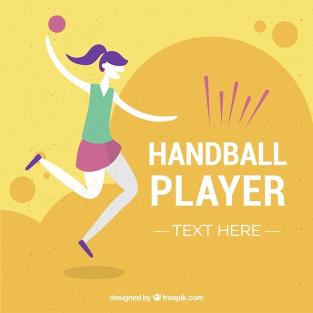 Joueur de handball professionnel avec un design plat Vecteur gratuit