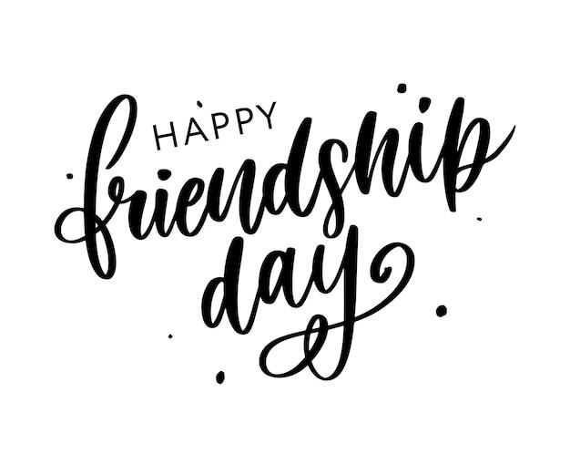 Jour de l'amitié Vecteur Premium