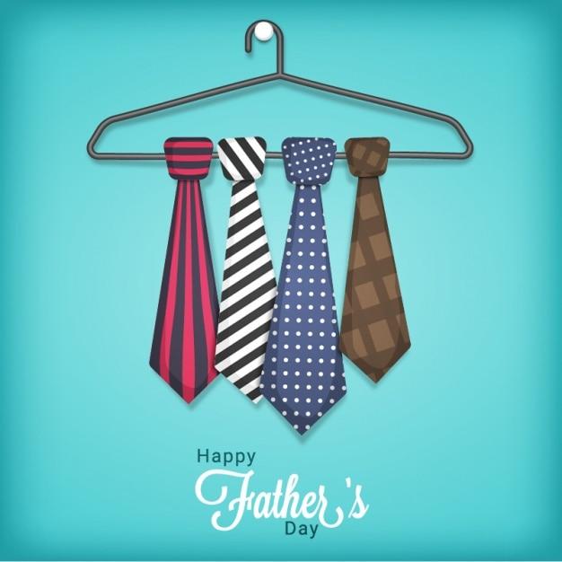Jour l'arrière-plan père de cintre avec cravates Vecteur Premium