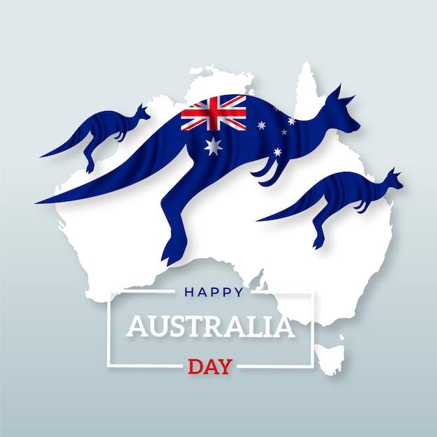 Jour De L'australie Réaliste Vecteur gratuit