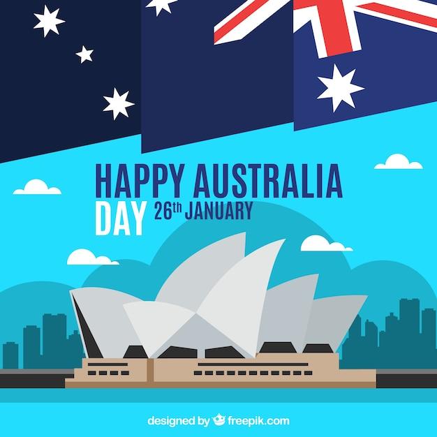 Jour de l'australie Vecteur gratuit
