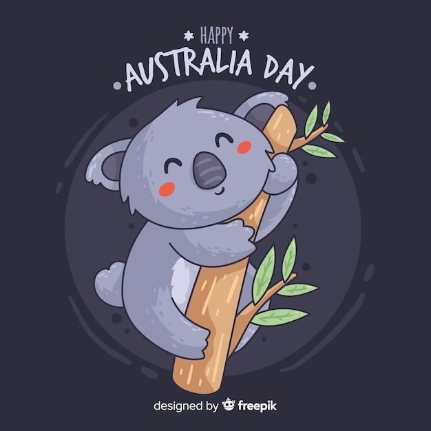 Jour Australien Vecteur Premium