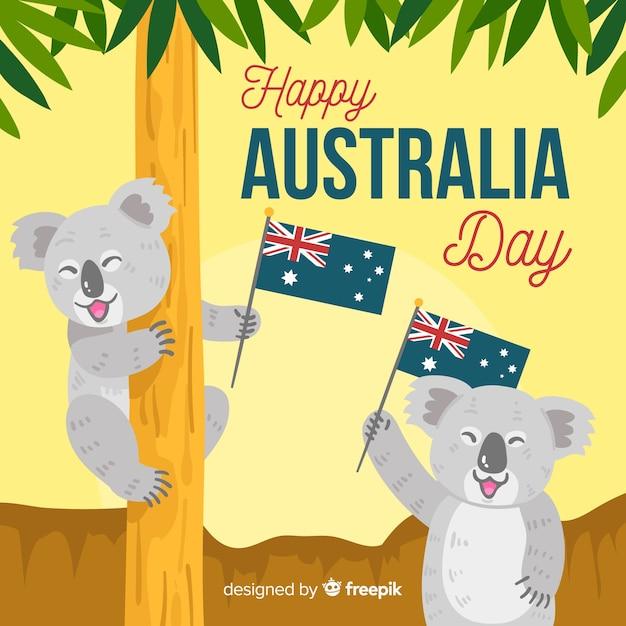 Jour australien Vecteur gratuit