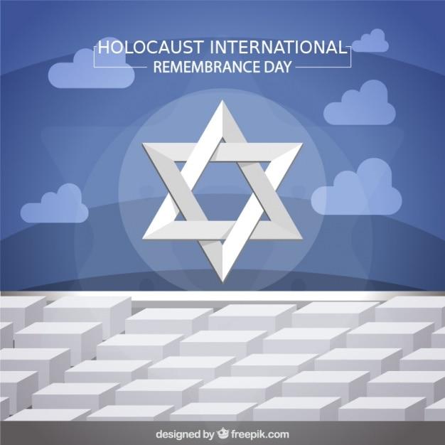 Jour de commémoration de l'holocauste, l'étoile sur monument à berlin Vecteur gratuit