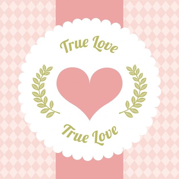 Jour de la conception de l'amour sur illustration vectorielle fond rose Vecteur Premium