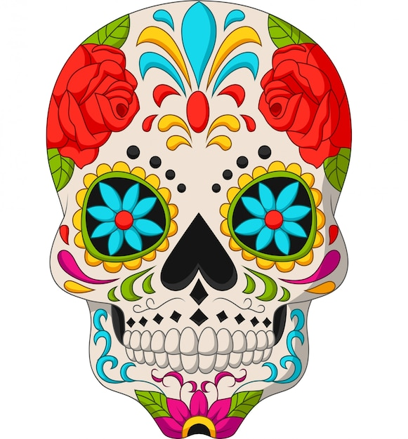 Jour des crânes morts Vecteur Premium