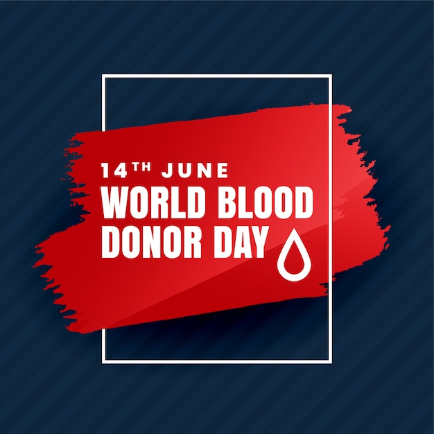 Jour du don de sang Vecteur gratuit